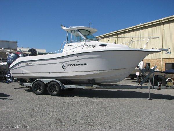 sold   seaswirl striper 2601  twin yamaha f150 fourstrokes