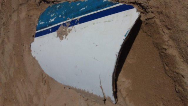 Piece of that yacht washed up at Wannanup Jackalchub