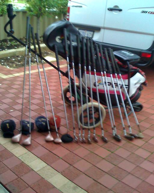 A photo of the golf clubs forsale