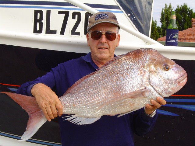 Dad with a Big Snapper