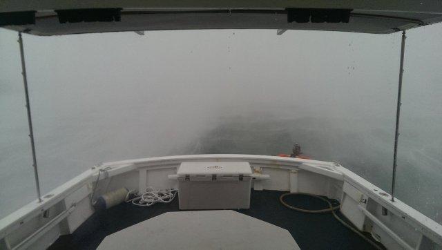 on boat in tornado
