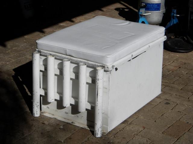 Boat seat box for sale fishing for Fish box for boat