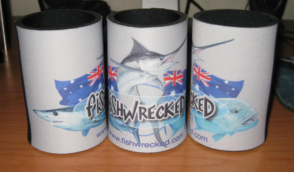 Fishwrecked Stubby Holders x 3