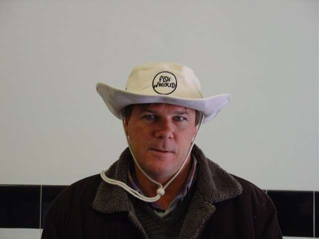Walky modelling the white fishwrecked hat